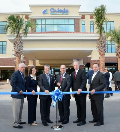 Congratulations to KC , the Oviedo Medical Center CEO, fellow Oviedo Rotarian and City Council who had ribbon cutting last night in preparation of the official opening in a couple weeks